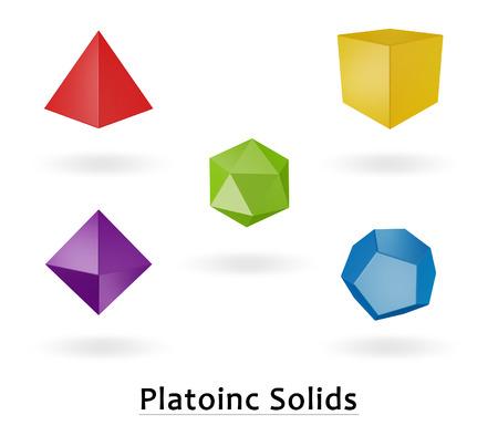 icosahedron: 3d platoic solids symbol isolated on white background