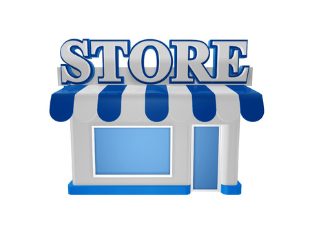 cool store shop isolated on white background photo