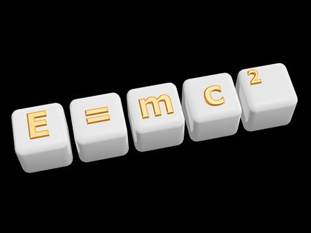 equivalence: golden mass energy equivalence symbol on black background