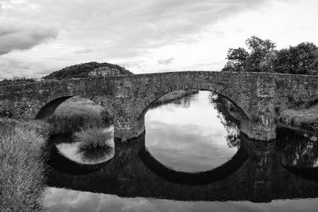 The beautiful bridges in the hills of Scotland photo