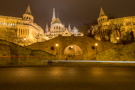 buda: One of the most evocative places in Budapest is definitely one of Fisherman Stock Photo