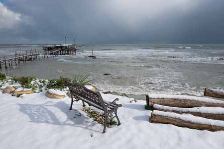 The coast of the Trabocchi Stock Photo