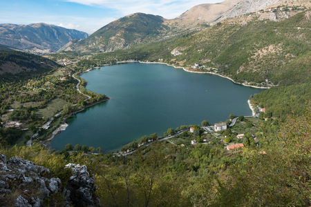 Wild, unspoiled, of immeasurable beauty, Lake Scanno Stock Photo