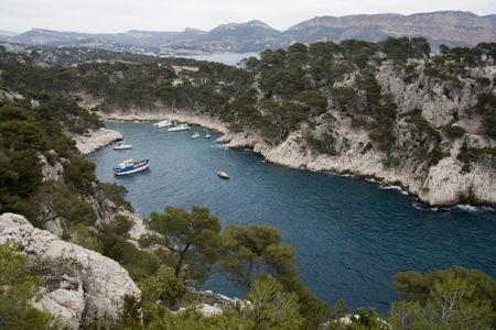 sud: This is a picure of the creek of Cassis near Marseille (france).