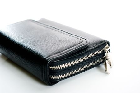 pochette: Pochette .Black leather men handbag for documents.