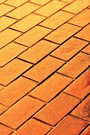 Gold brick pattern background.