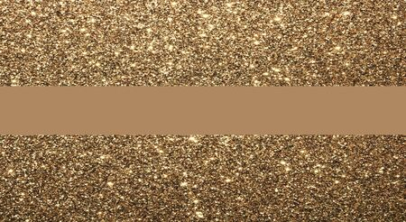 A glittering gold background, with a gold bar across the center for text.