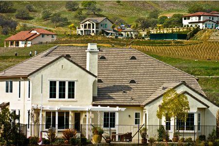 Luxury home on a hillside