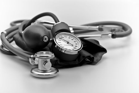 Medical instrument stethoscope blood pressure sphygmomanometer Stock Photo - 6200631