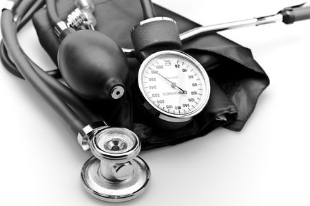 Medical instrument stethoscope blood pressure sphygmomanometer Stock Photo - 6200636