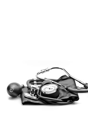 Medical instrument stethoscope blood pressure sphygmomanometer Stock Photo - 6200633