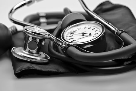 medical instrument stethoscope blood pressure Stock Photo - 6200637
