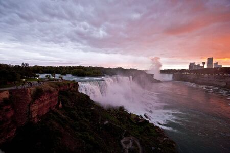 niagara falls at dusk Stock Photo - 6663643