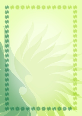 Green blank with border Stock Photo - 13076870