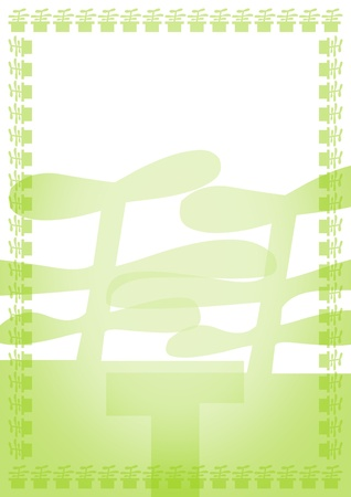 Green blank with border Stock Photo