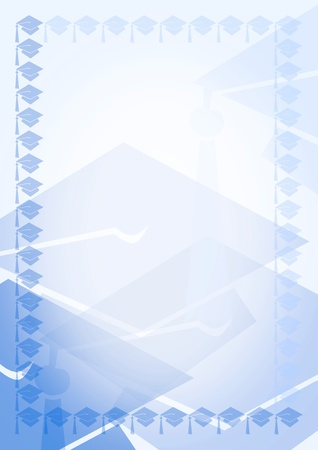 Blue  blank with border Stock Photo - 13076868
