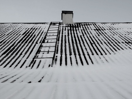Snow roof with ladder