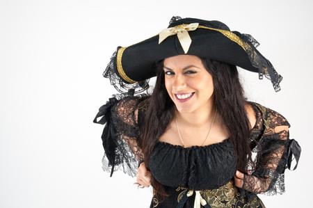 pirata mujer: Pirata estudio de la mujer photography pantalla en blanco
