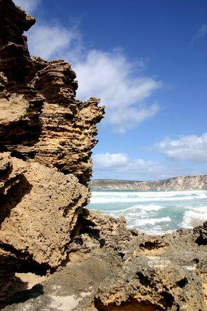 Rocks, clouds and sea at Pennington Bay, Kangaroo Island, South Australia