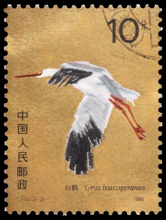 CHINA - CIRCA 1986: A 10-fen stamp printed in the People