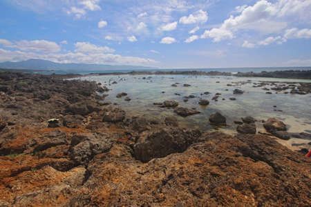 View of the Pupukea tide pools on the south side of Sharks Cove, Oahu, Hawaii  Sharks Cove is located on the north shore of Oahu and has been rated by Scuba Diving Magazine as one of the top 12 shore diving areas in the world  photo