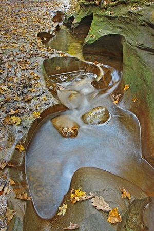 nature conservancy: Potholes in Fall Creek Gorge, a Nature Conservancy Property in Warren County, Indiana vertical