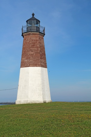 The Point Judith light and associated buidings near Narragensett, Rhode Island vertical photo