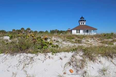 The Port Boca Grande Lighthouse on Gasparilla Island