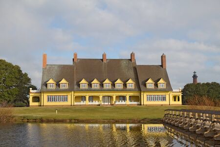 COROLLA, NORTH CAROLINA - NOVEMBER 8  The Whalehead Club Historic House Museum at Currituck Heritage Park, November 8, 2011  The park is a popular destination for visitors to the northern outer banks