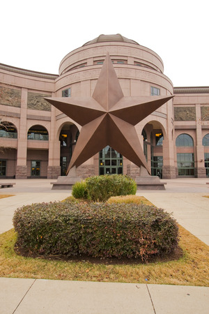 faade: AUSTIN, TEXAS - FEBRUARY 3 2014: Front fa�ade of the Bullock Texas State History Museum in Austin. This popular museum tells the Story of Texas and has been visited by more than 6 million people.