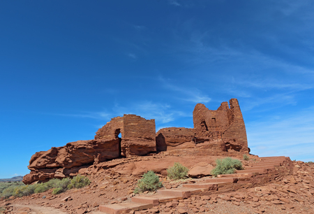 Ruins of Wukoki pueblo in Wupatki National Monument north of Flagstaff, Arizona Stock Photo