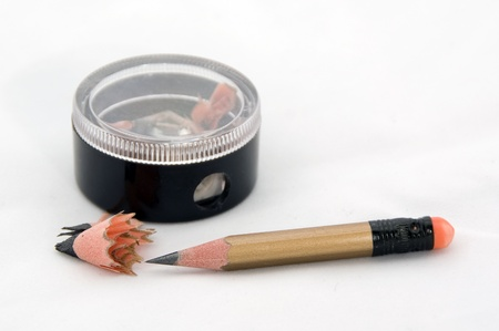 Sharp pencil and sharpener