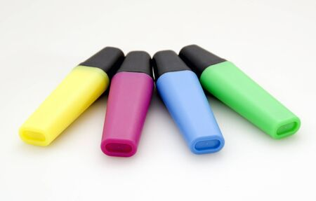 Markers of different colors Stock Photo