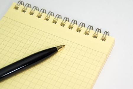 recap: Notebook and ballpoint pen