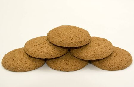 Pyramid of oatmeal cookies Stock Photo - 16935702