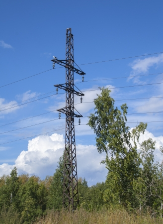 Tower of power transmission line photo