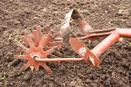 cultivator: Old garden cultivator  Stock Photo