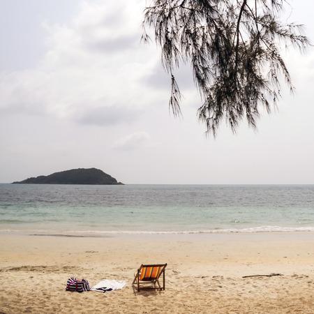 beach landscape: Sandy beach landscape
