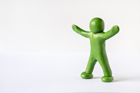 green man: Green man with his hands up