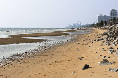 Ocean beach in Pataya city Stock Photo