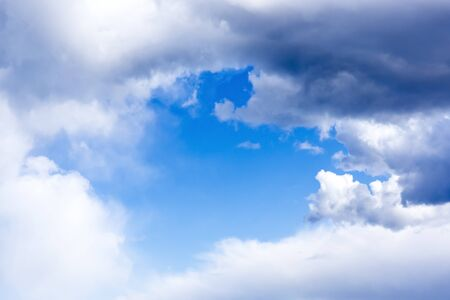 cloudy sky: Gentle blue cloudy sky frame