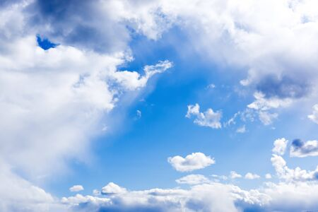 cloudy sky: Gentle blue cloudy sky