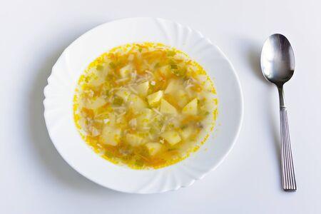 Sopa en placa