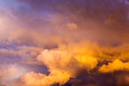 afterglow: Evening cloudy sky afterglow Stock Photo