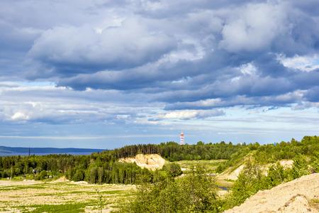 Verano paisaje de la naturaleza Foto de archivo