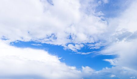 cloudy sky: Panorama of blue cloudy sky