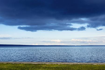 thundercloud: Temporale sul lago Archivio Fotografico