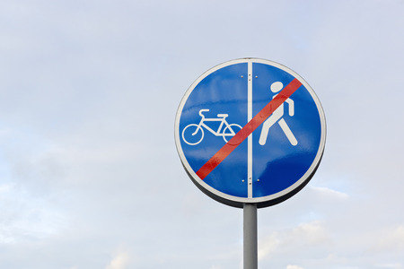 interdict: Sign for pedestrians and cyclists