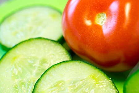 cucumbers: Cucumbers and tomatoes
