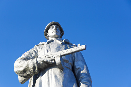 soviet: Statue to Soviet warrior